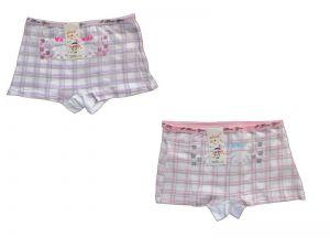 Dívčí kalhotky Elevek, vel. 6-8 (110/130 cm) s nohavičkou, káro