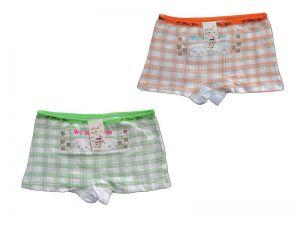 Dívčí kalhotky Elevek, vel. 9-11 (130/150 cm) s nohavičkou, káro