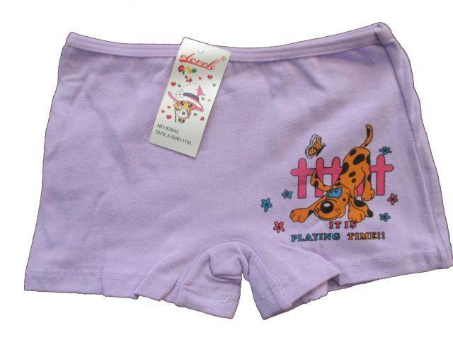 Dívčí kalhotky s nohavičkou Elevek fialová