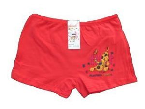 Dívčí kalhotky s nohavičkou Elevek červená