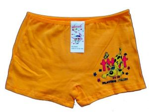 Dívčí kalhotky s nohavičkou Elevek oranžová