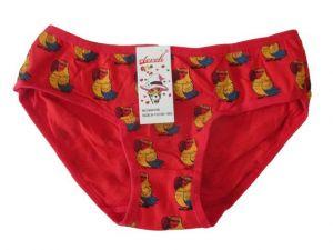 Dívčí bavlněné kalhotky Elevek červená