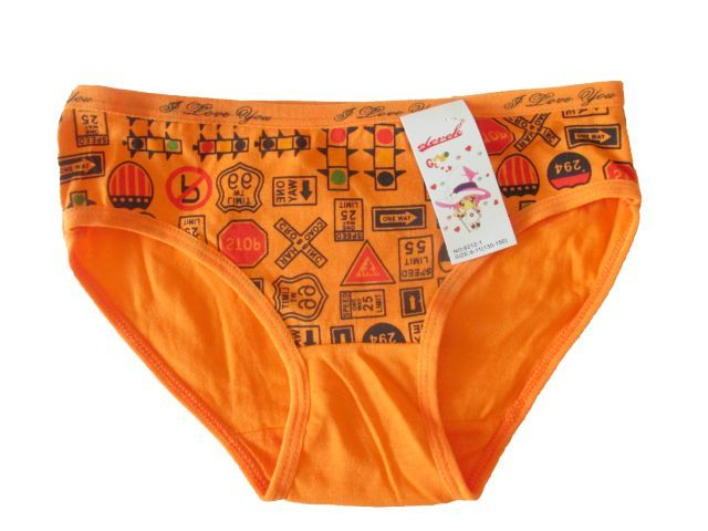 Dívčí kalhotky Elelevek oranžová