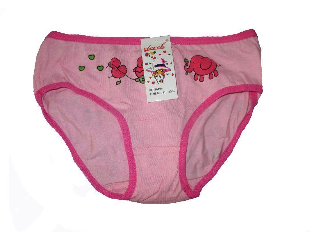 Dívčí kalhotky Elevek - růžový slon