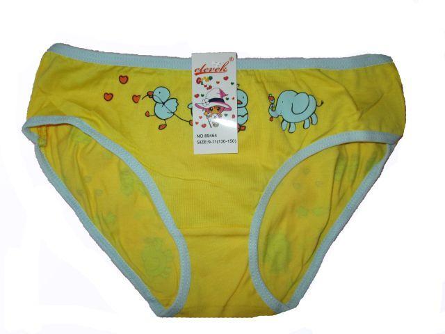 Dívčí kalhotky Elevek - žlutý slon